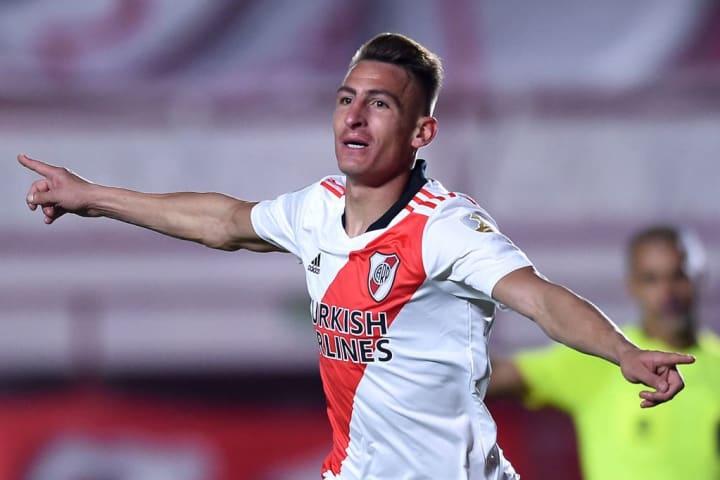 Braian Romero River Plate Seleção Oitavas Libertadores