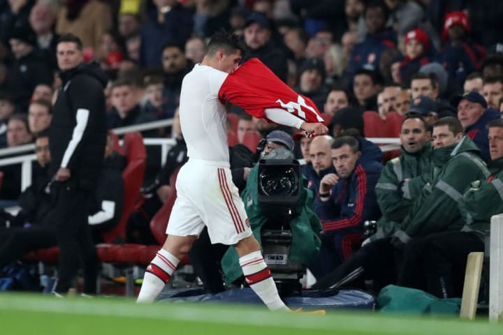Granit Xhaka stormed off the pitch and down the tunnel after being substituted against Crystal Palace back in October 2019