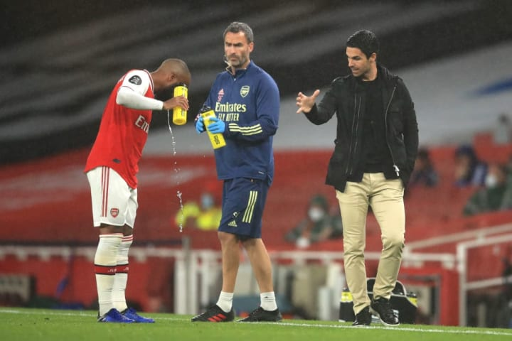 Lacazette has to fight for his place in Arteta's Arsenal team,