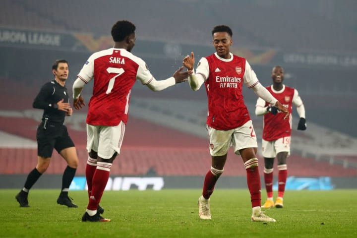 Joe Willock, Bukayo Saka