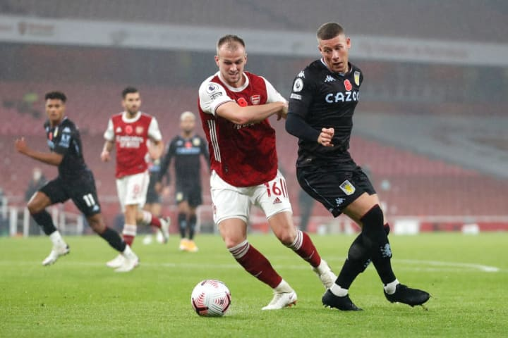 Holding was given a busy night by Grealish and co