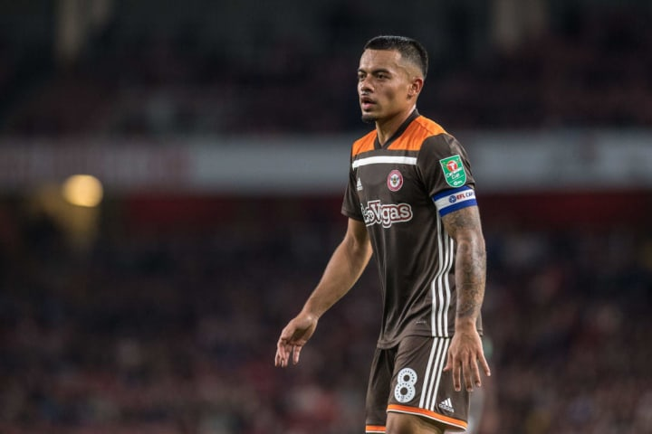 Yennaris against his former club in the Carabao Cup