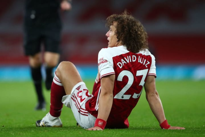 Luiz was forced off after 49 minutes against Leicester