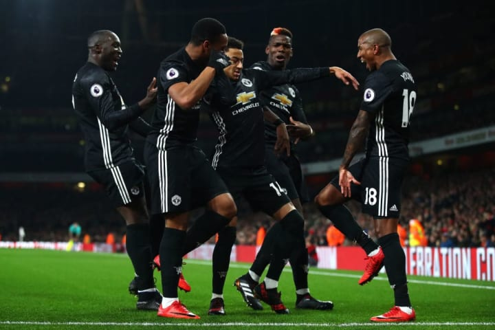 Jesse Lingard, Ashley Young, Anthony Martial, Paul Pogba, Romelu Lukaku