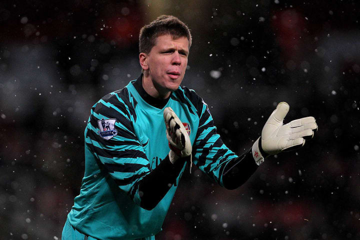 Szczesny made his Arsenal debut in 2009 but wouldn't become a regular until 2011