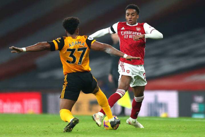 Willock received a rare start in midfield
