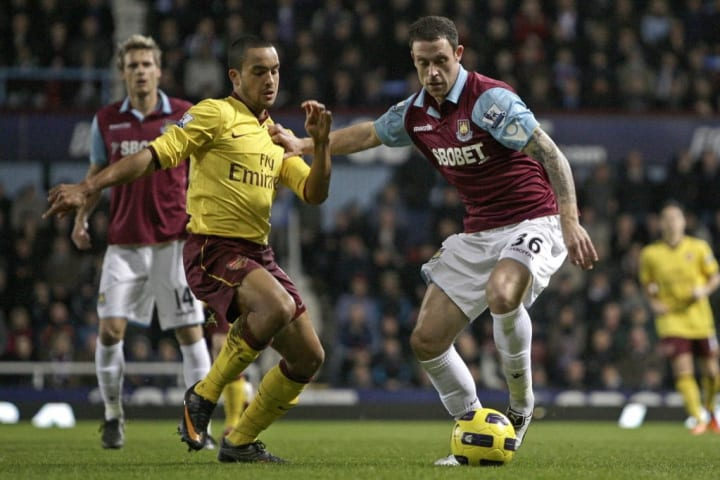 Wayne Bridge contending with Theo Walcott