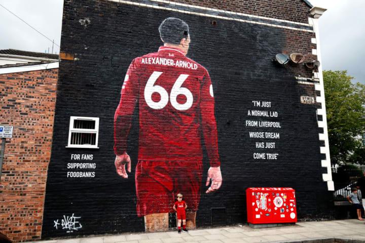 Artwork dedicated to Liverpool's local hero