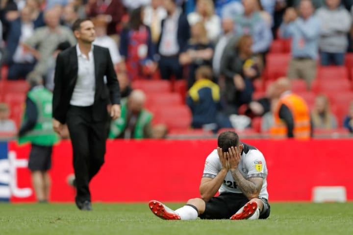 Derby were beaten by Villa in the 2018/19 play-off final
