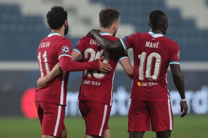 Diogo Jota, Sadio Mane, Mohamed Salah
