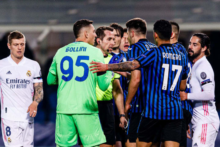 Atalanta were unjustly down to ten men for the majority of the game in midweek