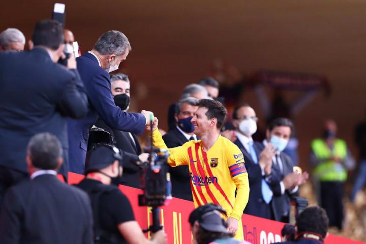 Lionel Messi, King Felipe VI