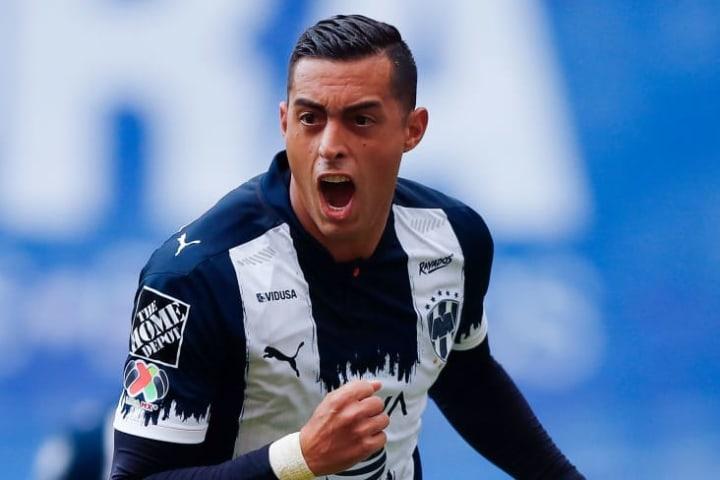 El delantero Rogelio Funes Mori celebra un gol.