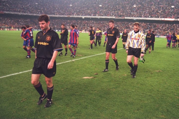 United were hammered 4-0 by a rampant Barcelona in 1994
