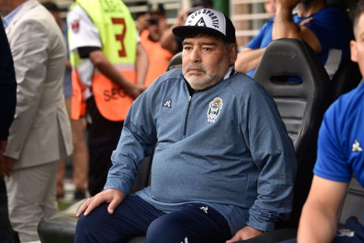 Maradona has had a difficult time in charge at Gimnasia thus far