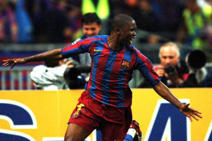 Eto'o got Barcelona on terms against Arsenal in the 2006 final
