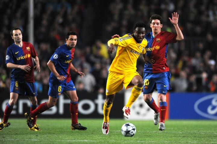 John Mikel Obi Lionel Messi Chelsea Barcelona Gol fora Uefa Champions League