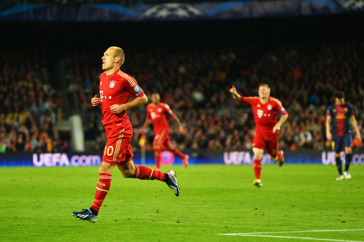 Robben was instrumental in a famous Bayern victory