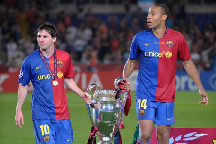 Lionel Messi Thierry Henry Parceiro Carreira Barcelona
