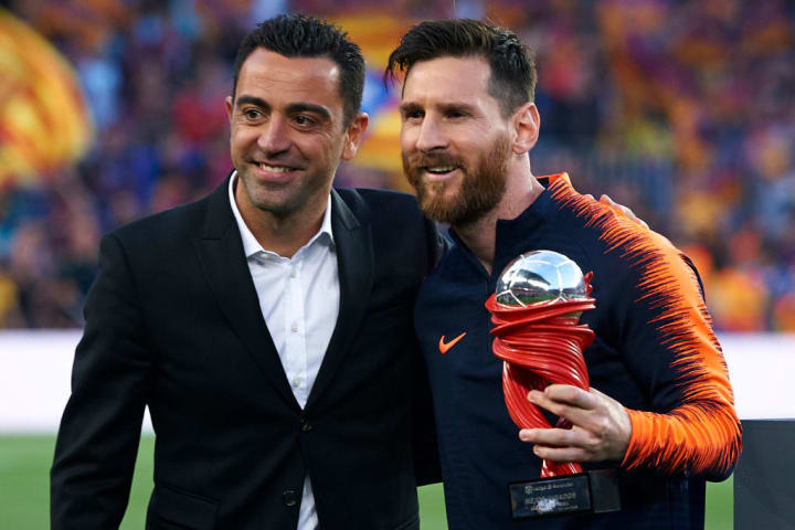 Xavi and Messi enjoyed a period of sustained success at Barcelona together