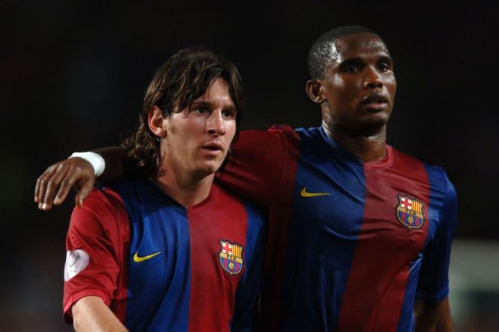 Samuel Eto'o Lionel Messi Parceiro Barcelona Carreira
