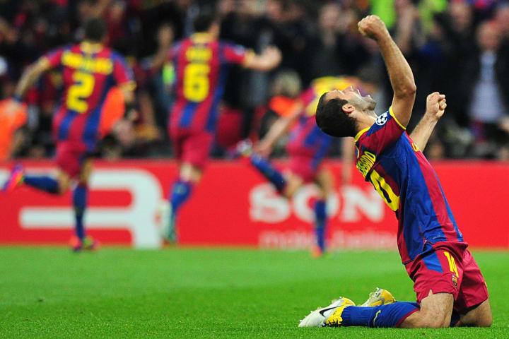 Barcelona's Argentinian midfielder Javie