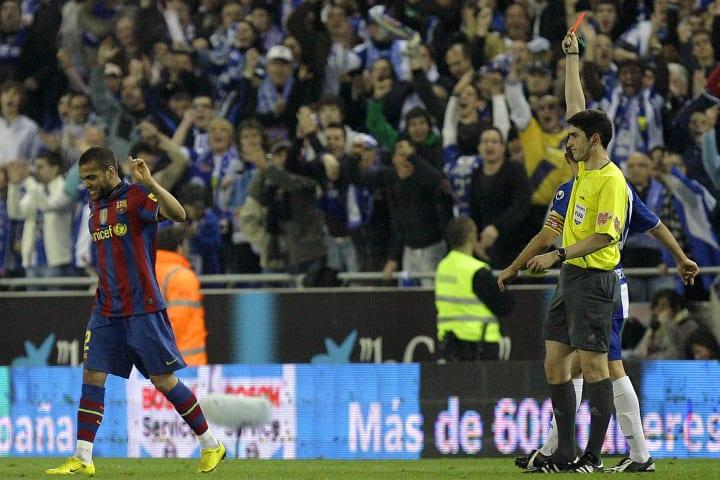 Barcelona's Brazilian defender Daniel Al