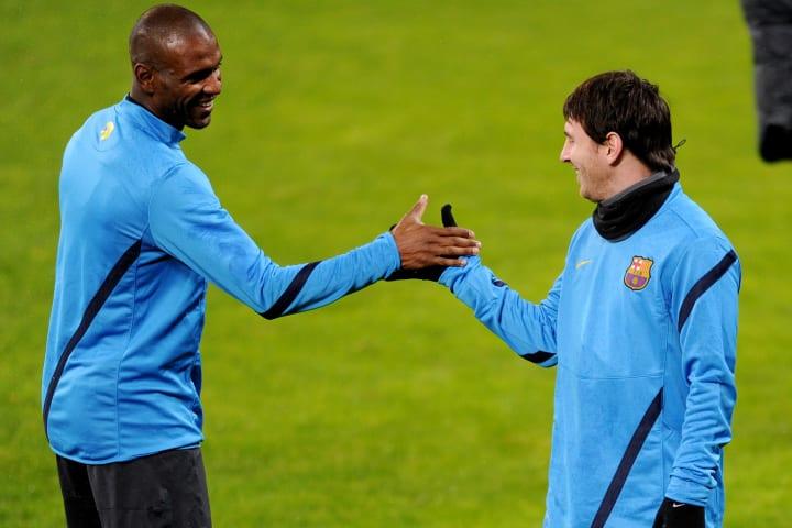 Eric Abidal Lionel Messi Parceiro Carreira Barcelona