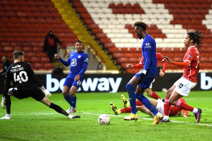 Tammy Abraham got the only goal of the game as Chelsea beat Barnsley