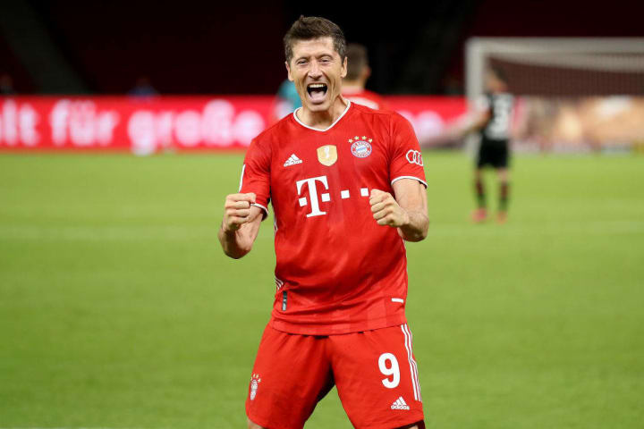 Robert Lewandowski is third on the all-time Bundesliga scoring charts