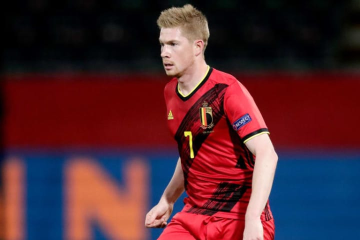 Kevin De Bruyne will miss Belgium's opening game of Euro 2020