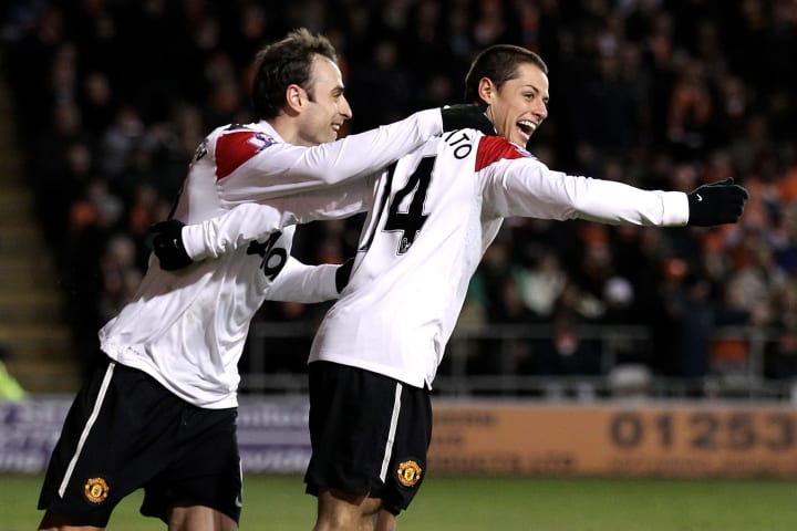 Dimitar Berbatov & Javier Hernandez scored against Blackpool