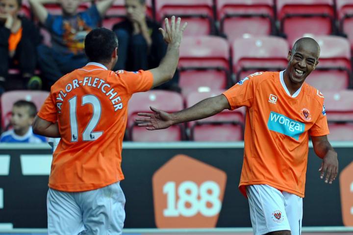 Blackpool's English defender Alex Baptis