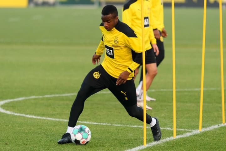 Moukoko has been training with the first team