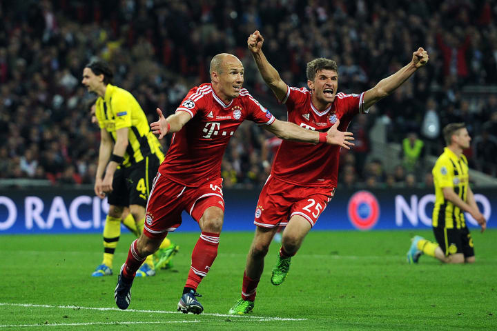 Robben hit a last gasp winner against Dortmund
