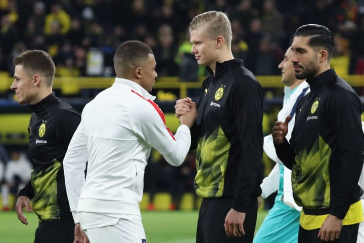 Haaland and Mbappe met in last season's Champions League