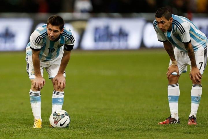 Lionel Messi Angel Di Maria Parceiro Carreira Seleção Argentina