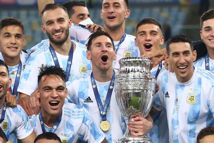 Lionel Messi, Lautaro Martinez, Angel Di Maria