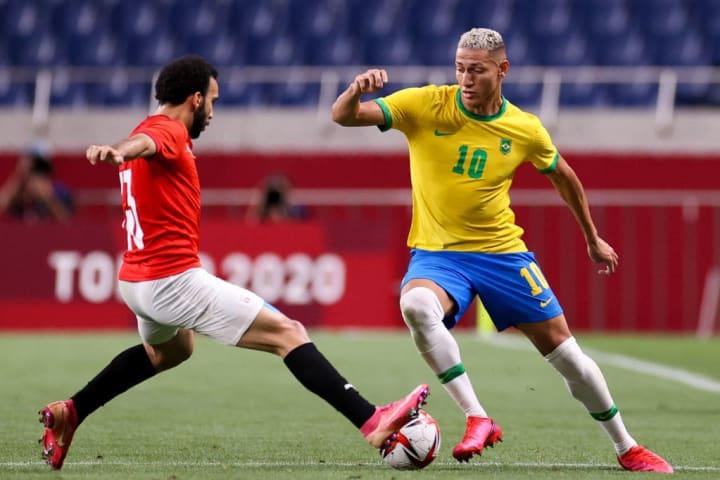 Karim Eraky, Richarlison Seleção brasileira México Olimpíadas Tóquio Semifinal Futebol Masculino