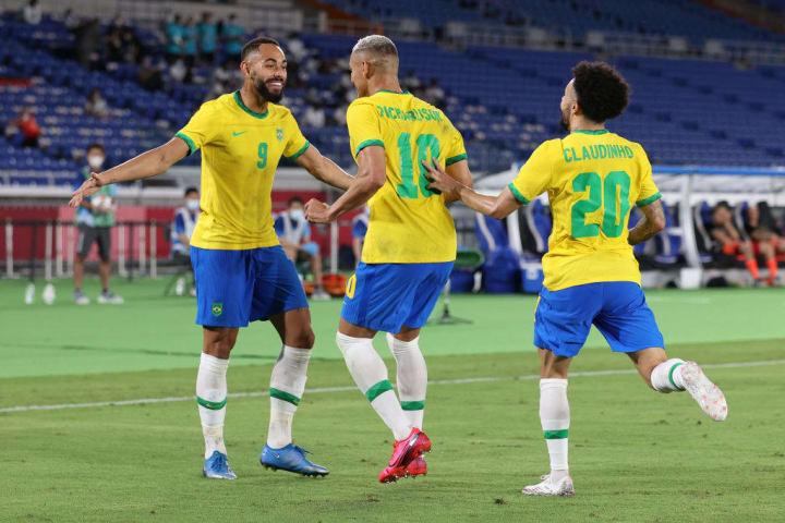 Richarlison Matheus Cunha Brasil Egito Palpite Quartas Futebol Masculino Olimpíadas