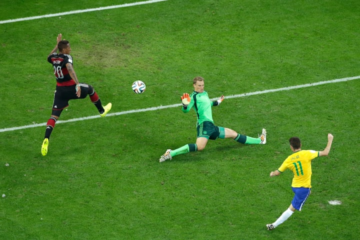 Brazil's consolation strike came in the 90th minute
