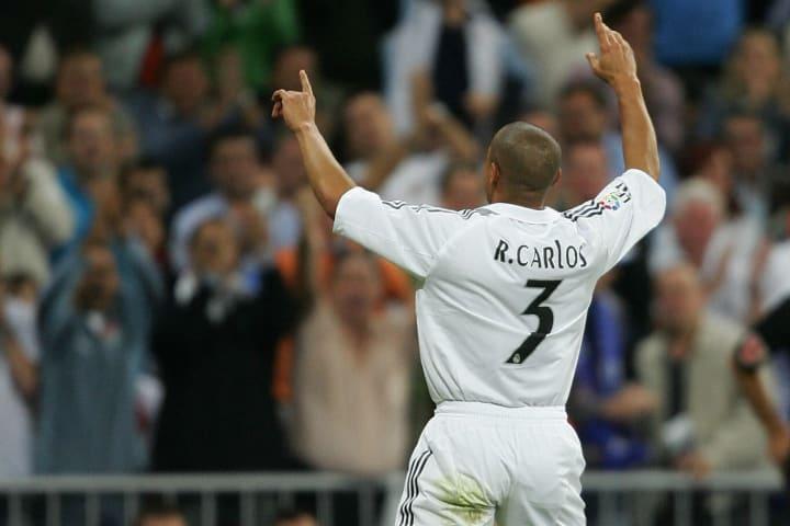 Roberto Carlos of Real Madrid