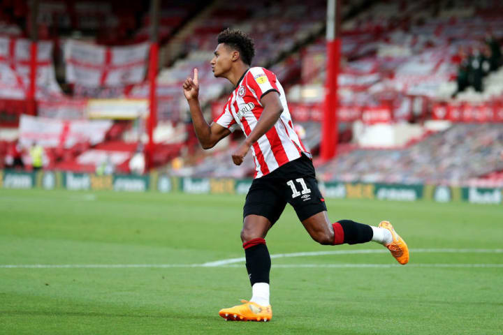 Watkins formed part of Brentford's feared BMW front line