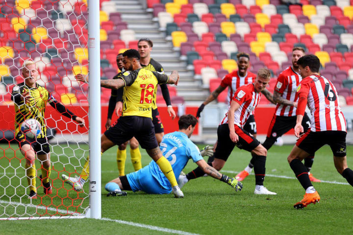 Watford suffered a 2-0 defeat at Brentford