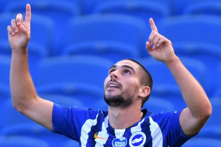 Neal Maupay scored in the final seconds to give Brighton the win