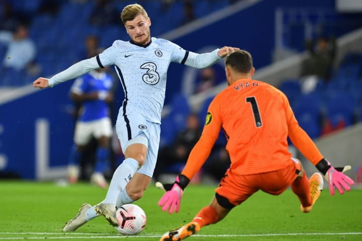 Werner won the penalty in the first half
