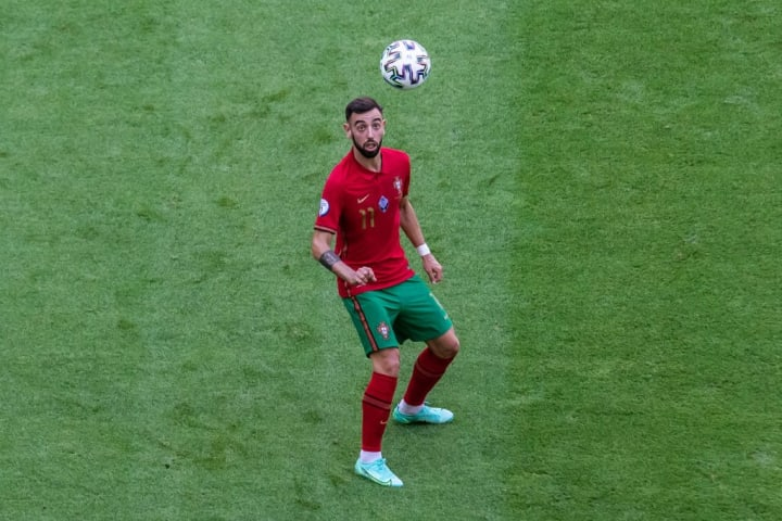 Bruno Fernandes of Portugal seen in action during the UEFA...