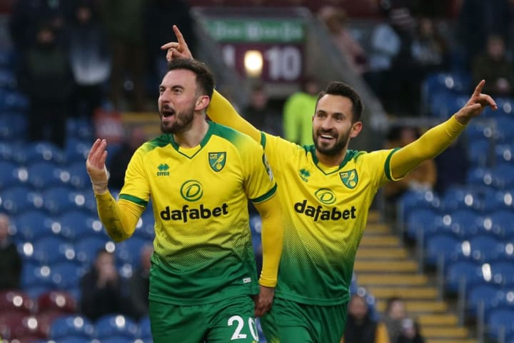 Norwich defeated Burnley on their way to the FA Cup quarter-finals