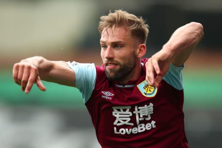 Charlie Taylor resumed at left-back for Burnley