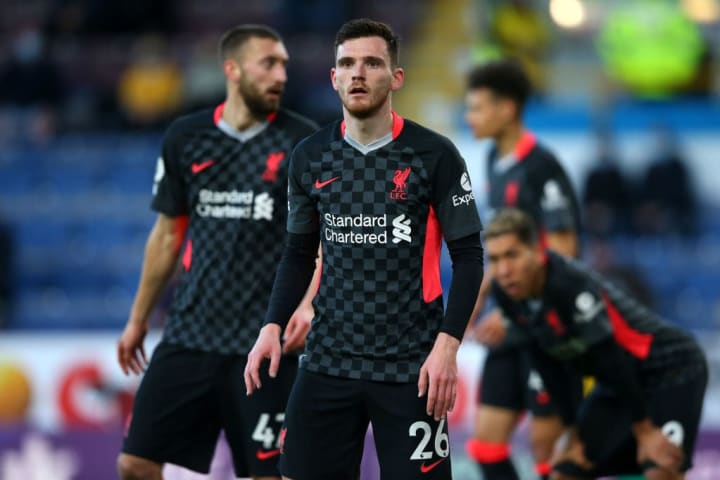 Andrew Robertson looked a threat going forward